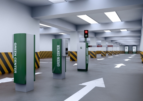 The GREEN Center parking system